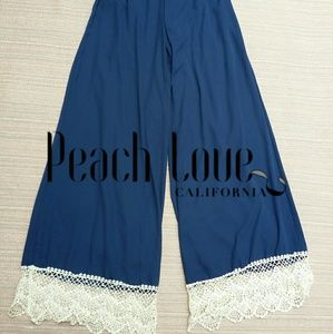 Peach love California boho palazzo pants